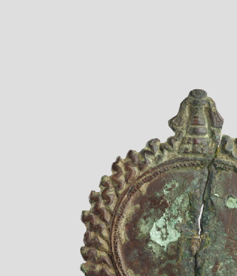 Decorated bronze disk, possibly a ritual mirror