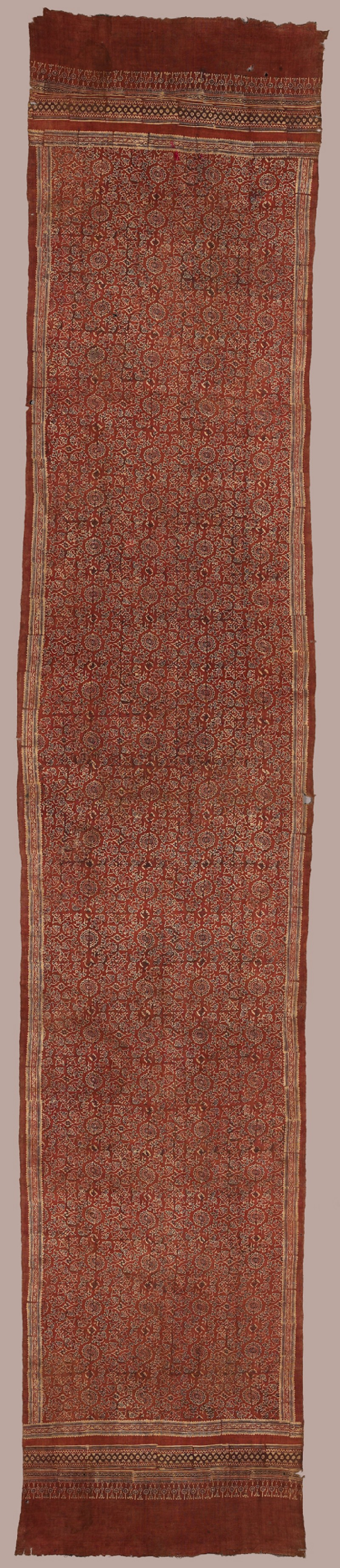 Cloth with hamsa, or geese, lotus buds, and rosettes