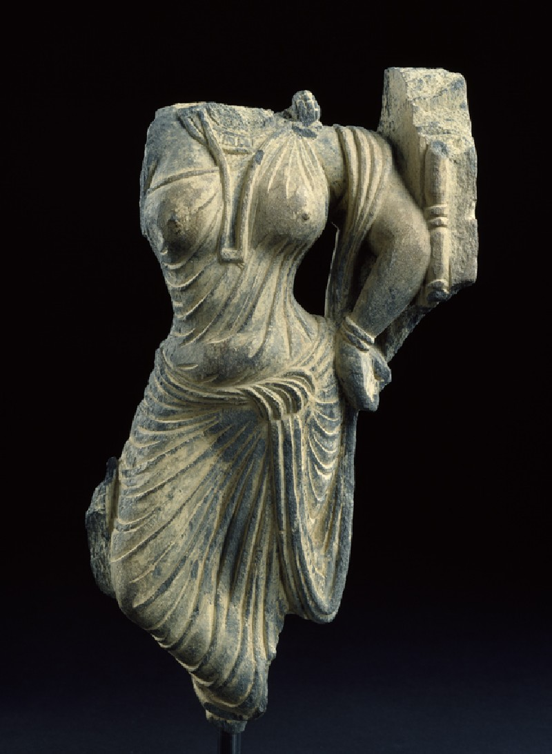 Fragment of a relief with female figure (EA1995.66, front           )