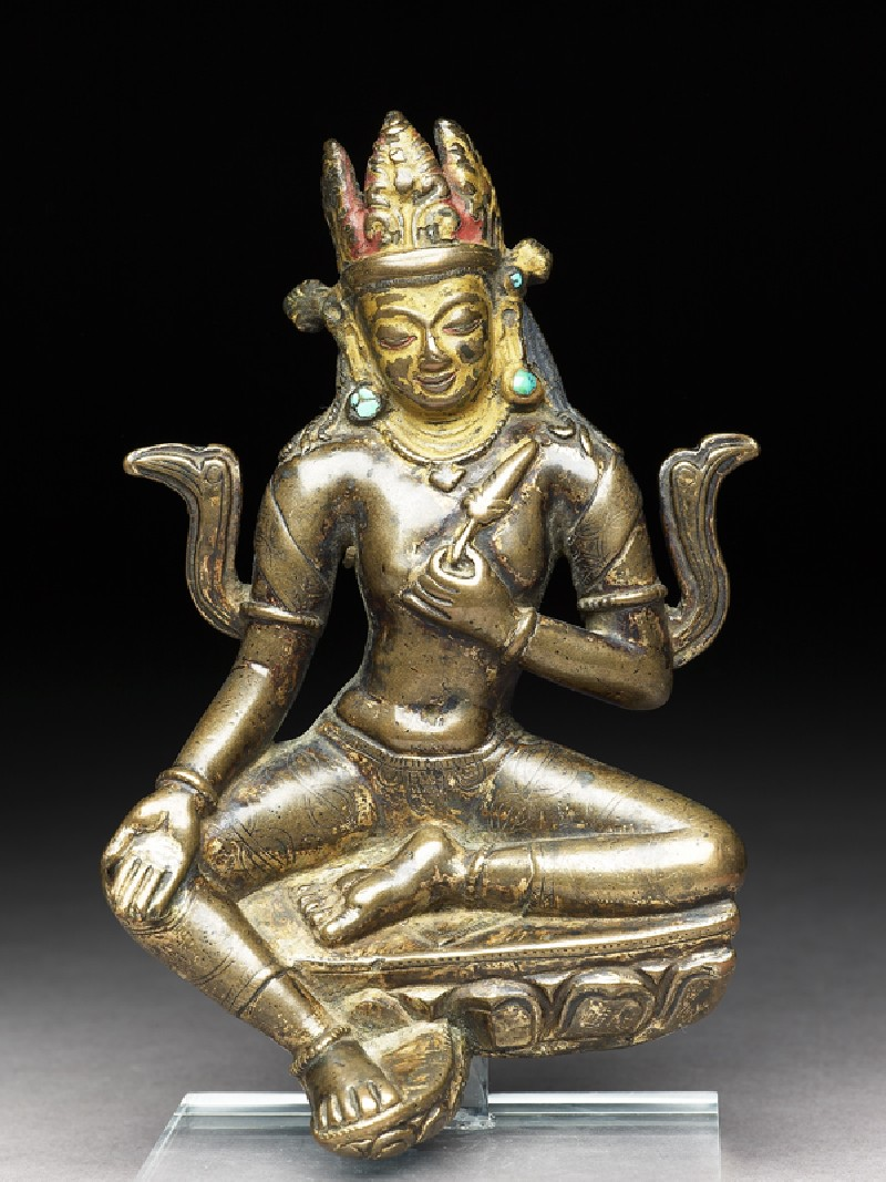 Seated figure of Manjushri (front           )