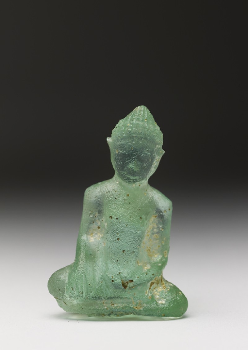 Glass figure of the Buddha (front           )