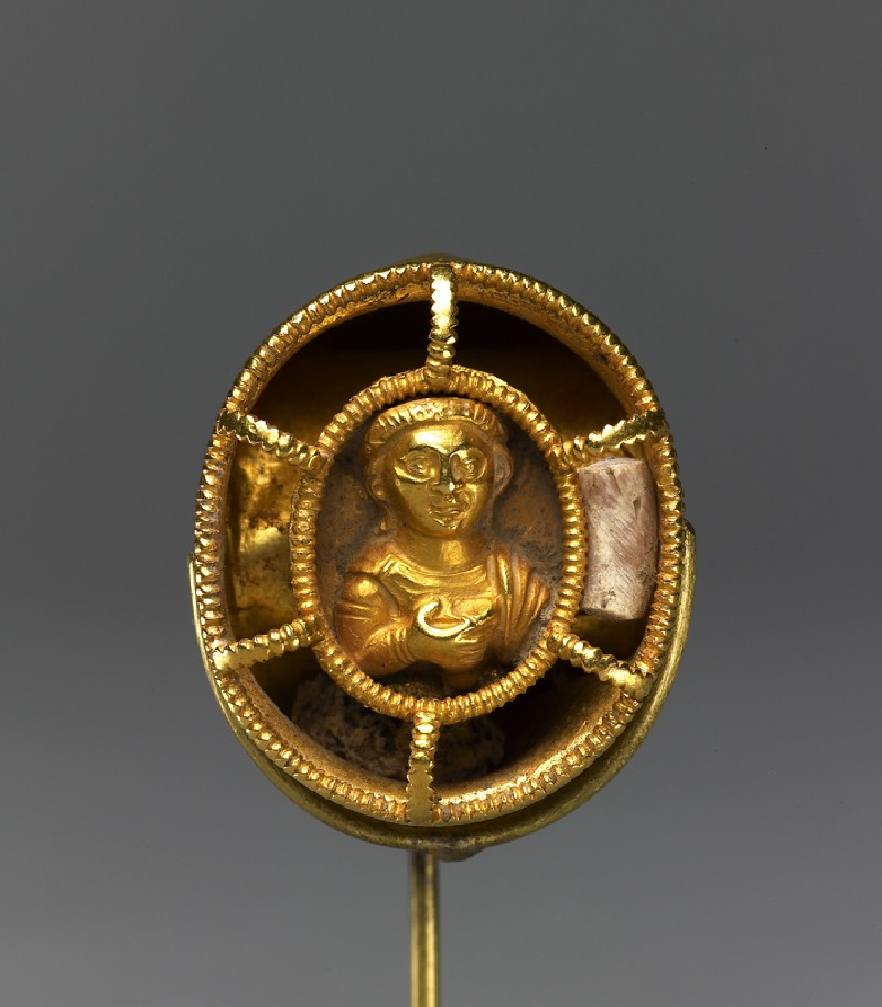 Ring with bust figure holding a wine cup (EA1996.103, top            )