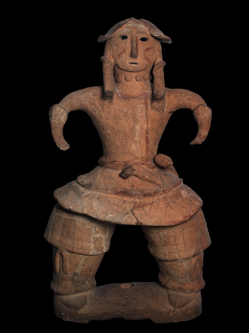 Haniwa figure of a warrior (EA1996.16, front           )