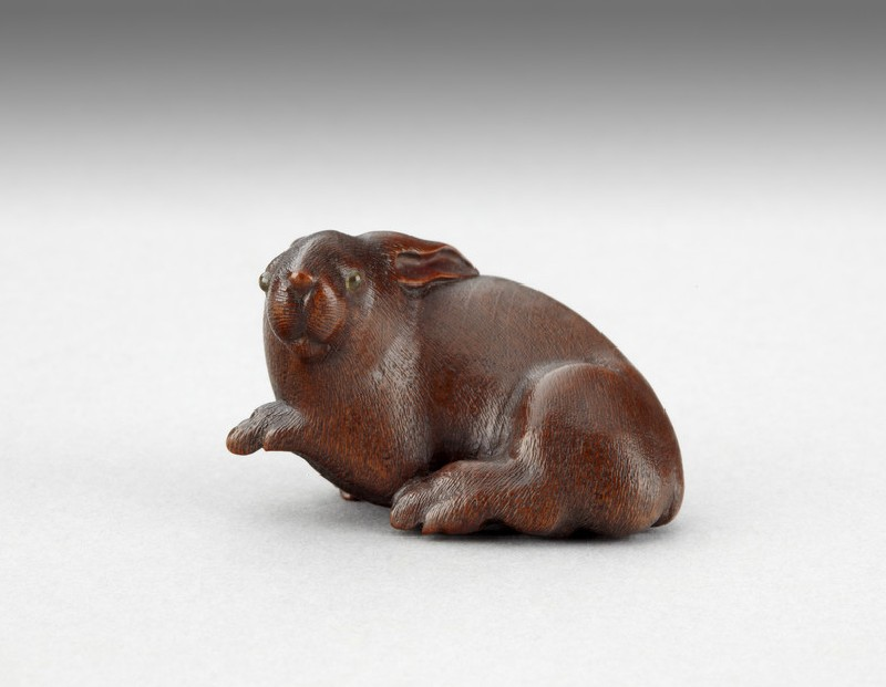 Netsuke in the form of a rabbit (EA1996.24)