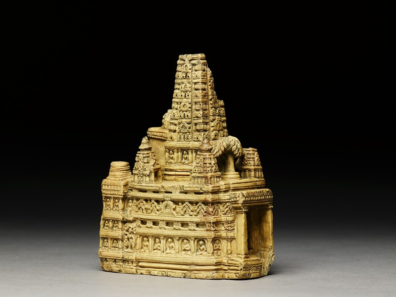 Stone model of the Mahabodhi temple (EA1996.4, side          )