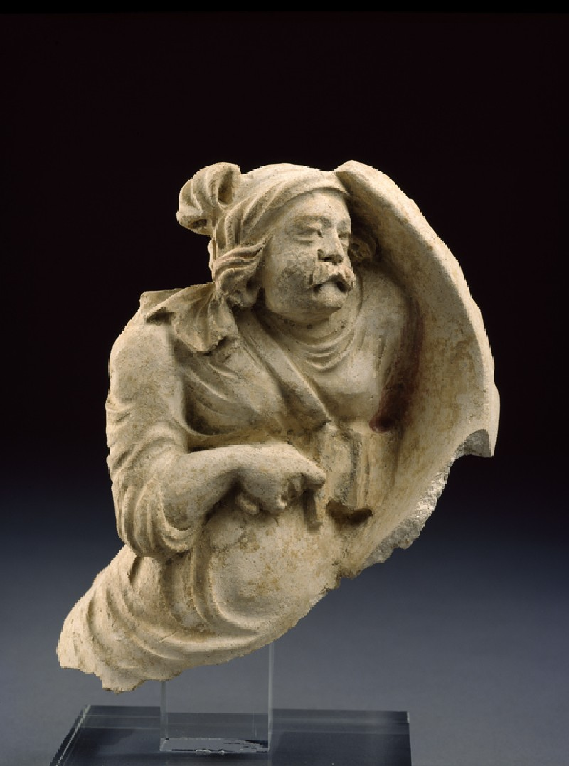 Fragmentary figure of a warrior (EA1996.58, side           )
