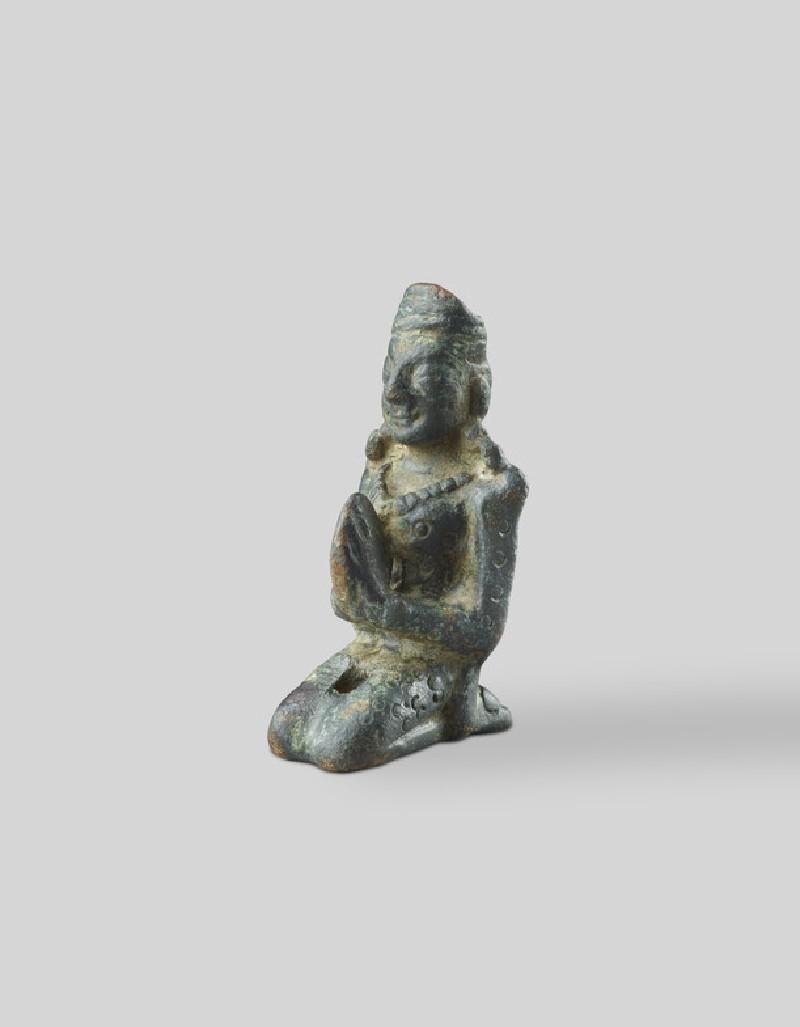 Kneeling devotee