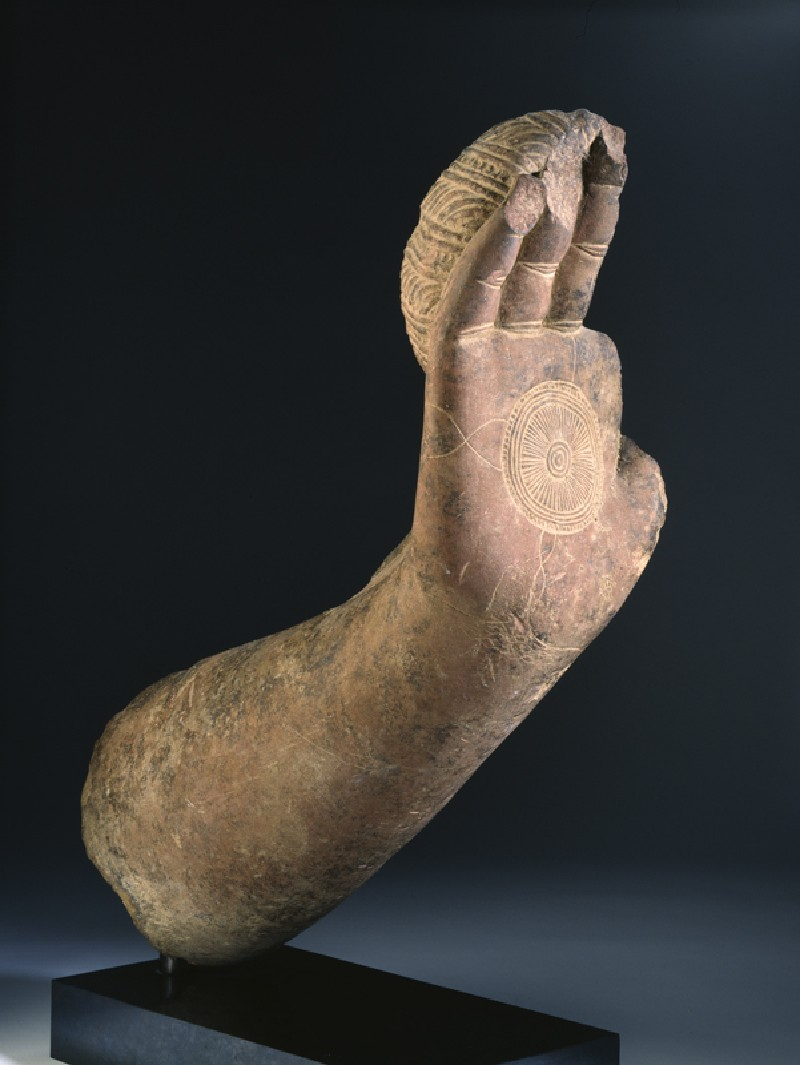Fragmentary hand and forearm from the Buddha