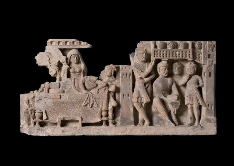 Relief depicting The Dream of Queen Maya (EA1997.198)