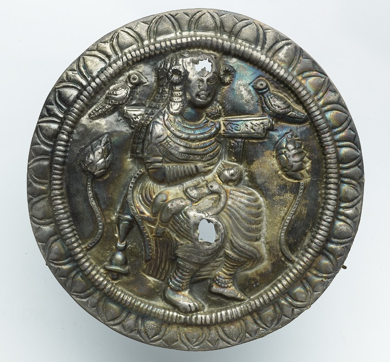 Roundel with the goddess Hariti (front            )