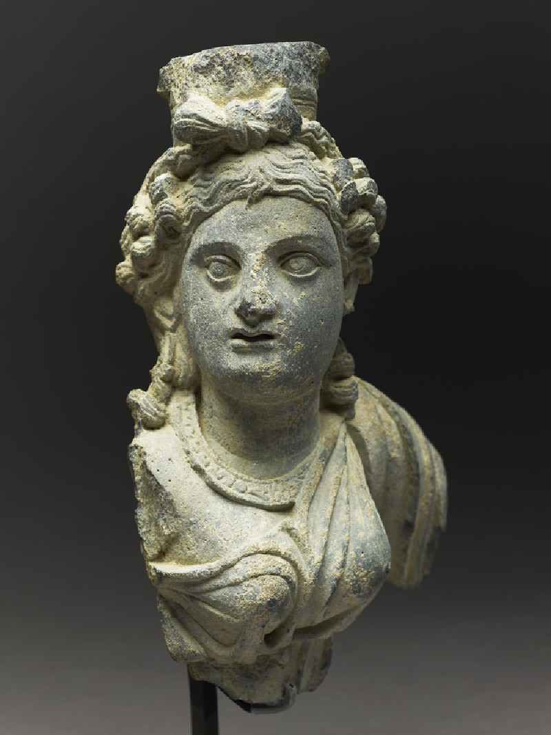 Fragmentary bust figure of the goddess Hariti (EA1997.3, side          )