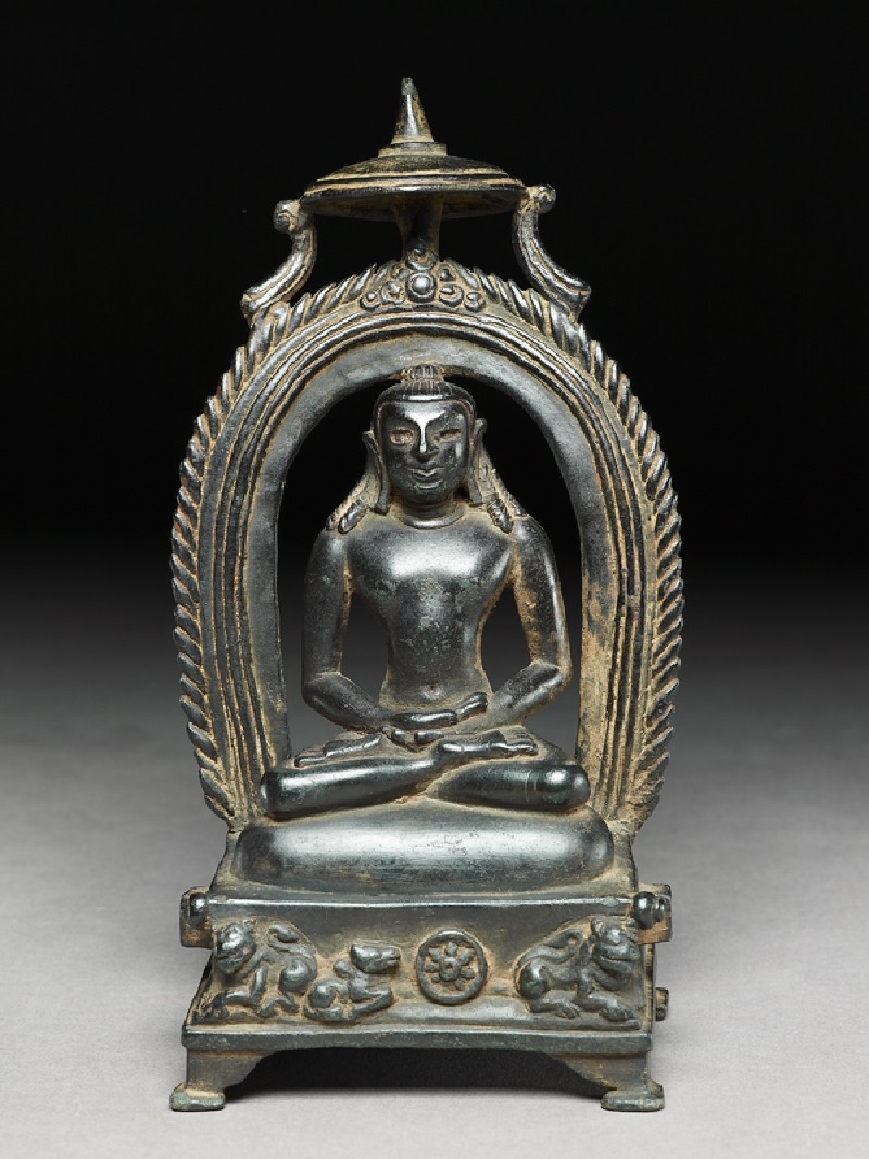 Seated figure of Rishabhanatha, the first Tirthankara (front           )