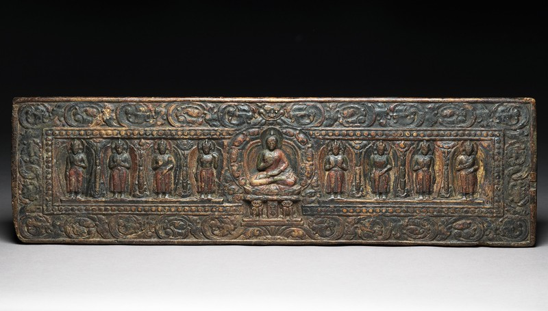 Buddhist book cover (EA1998.27, front           )