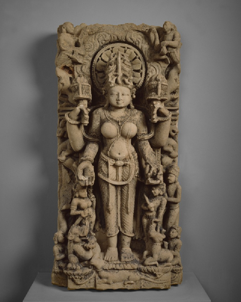 Stele with the goddess Gauri or Siddha (EA1999.21, front           )