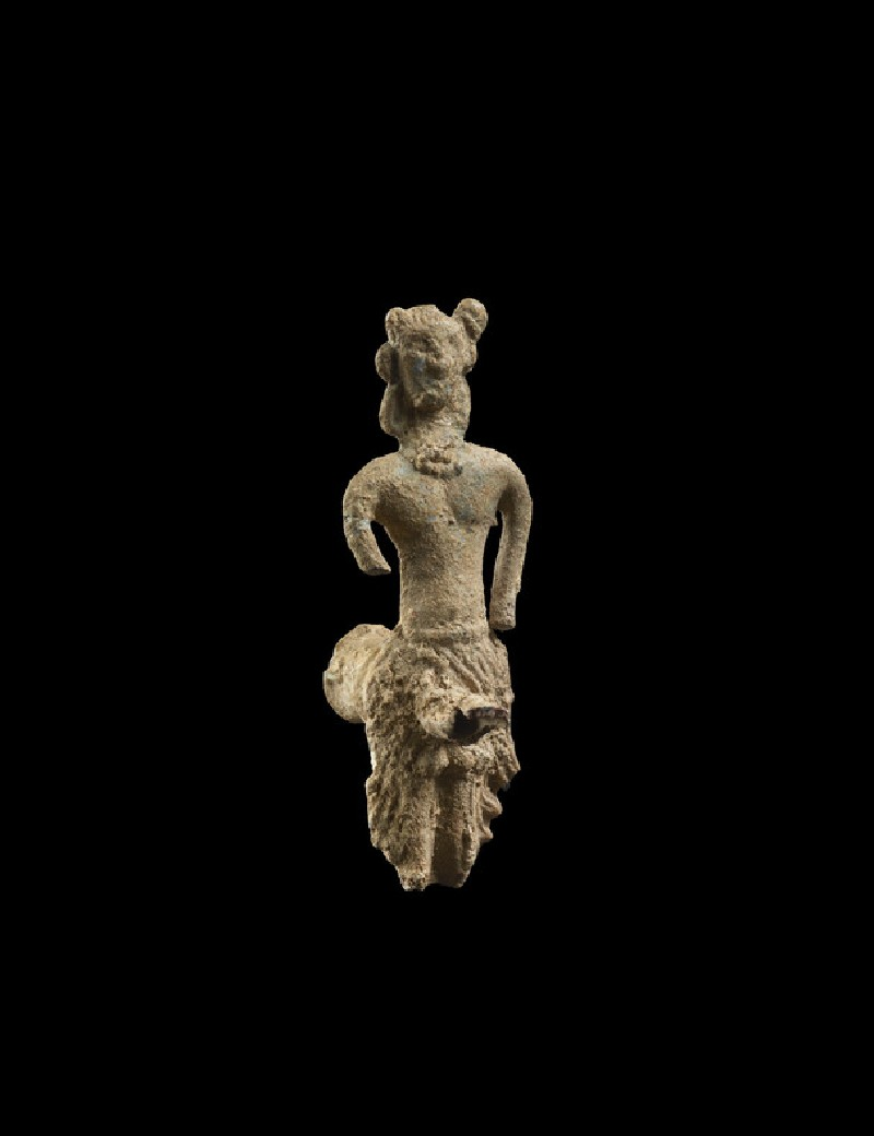 Spout in the form of a male figure