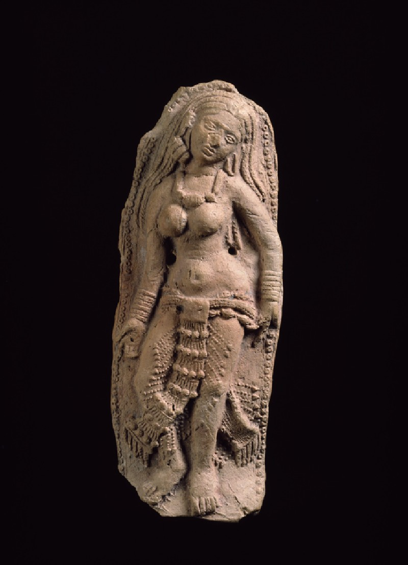 Plaque with female figure (EA1999.47, front           )