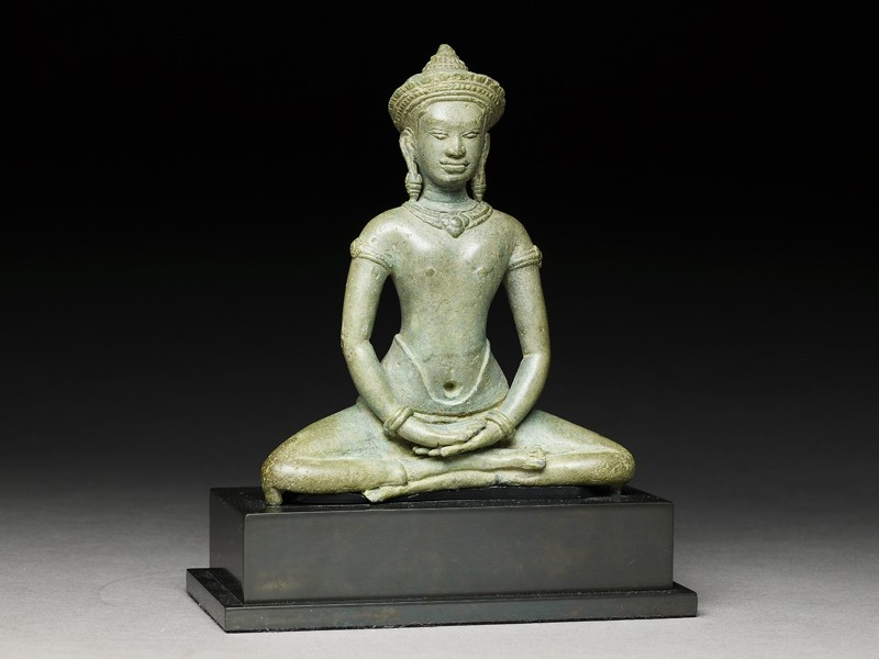 Seated figure of the Buddha (EA1999.48, side           )