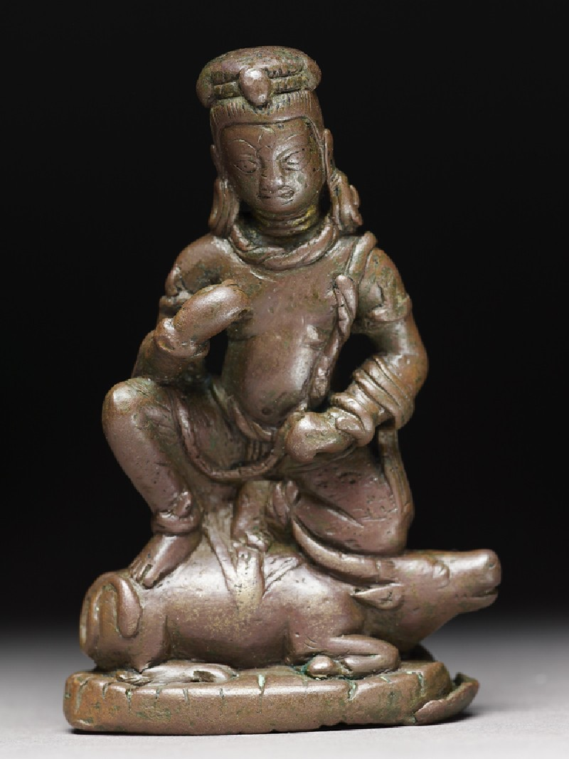 Figure of Yama, god of death on his buffalo