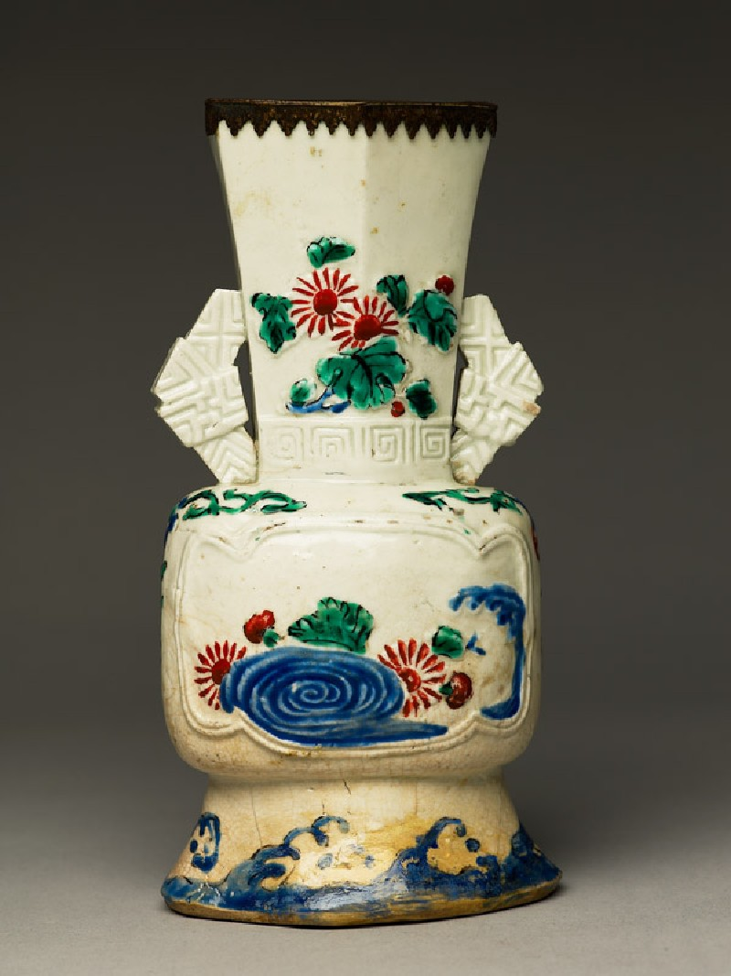 Vase with flowers and waves (EA1999.97, side           )