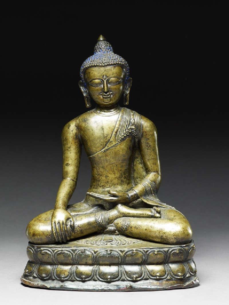 Seated figure of the Buddha (EA2000.1, front          )