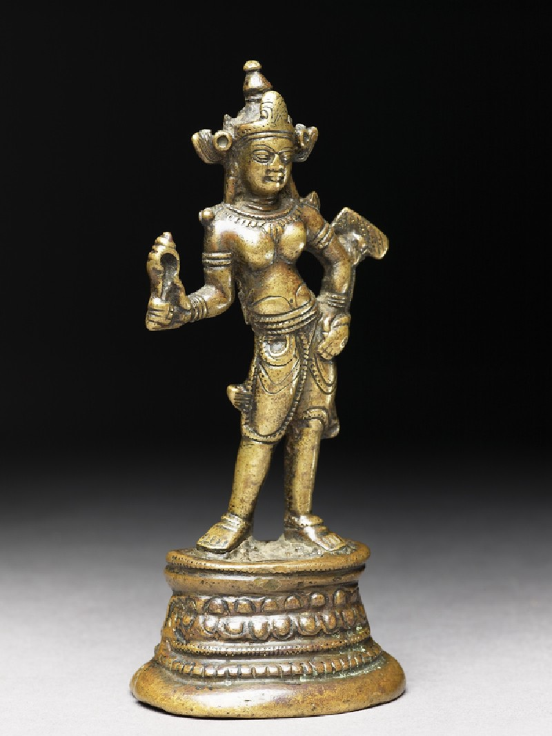 Figure of a bodhisattva, probably Manjushri (side            )