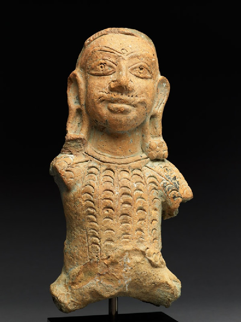 Bust figure of a warrior (EA2000.111, front            )