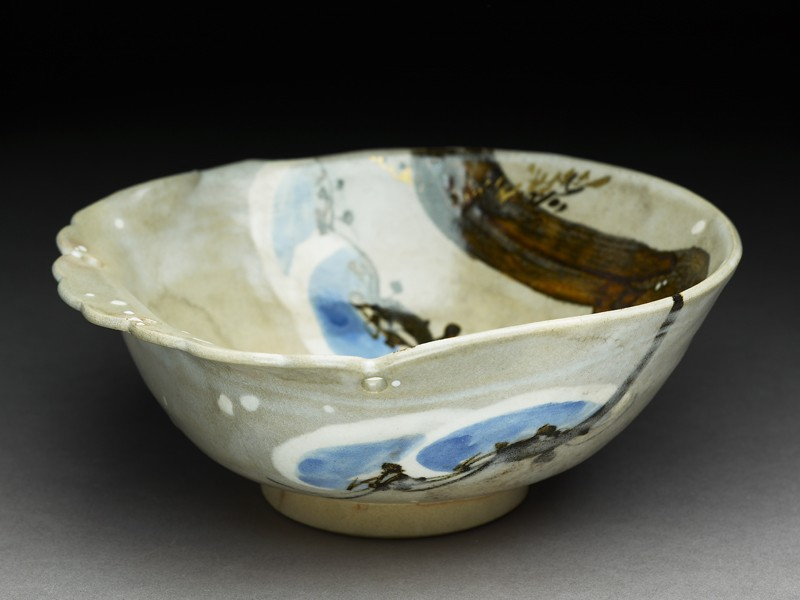 Bowl with pine branch (EA2000.181, oblique            )