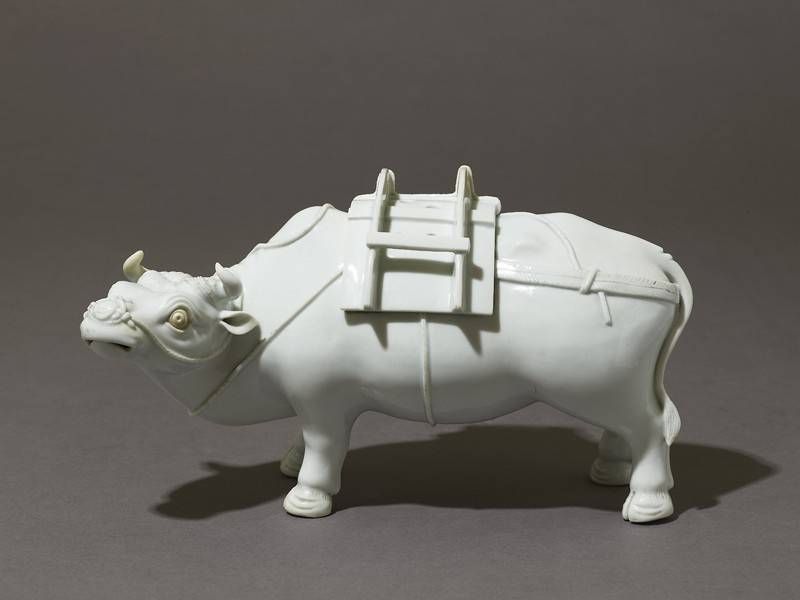 Incense burner, or kōro, in the form of an ox (oblique            )