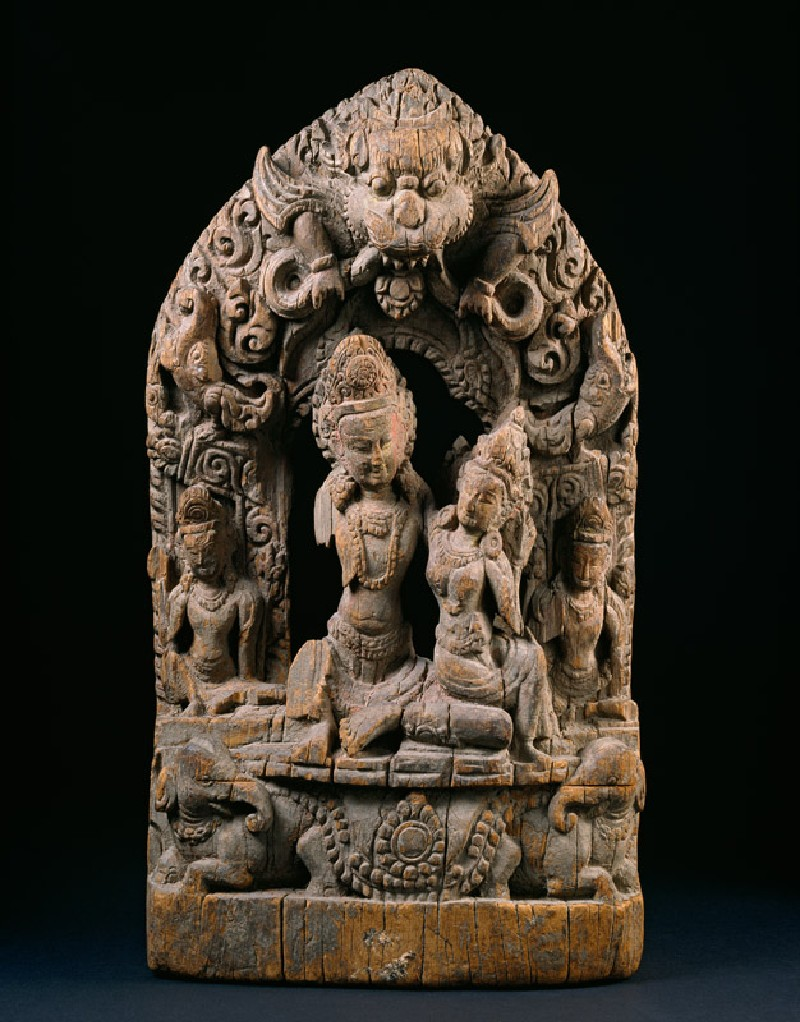 Relief depicting Indra and Indrani (EA2000.32, front           )