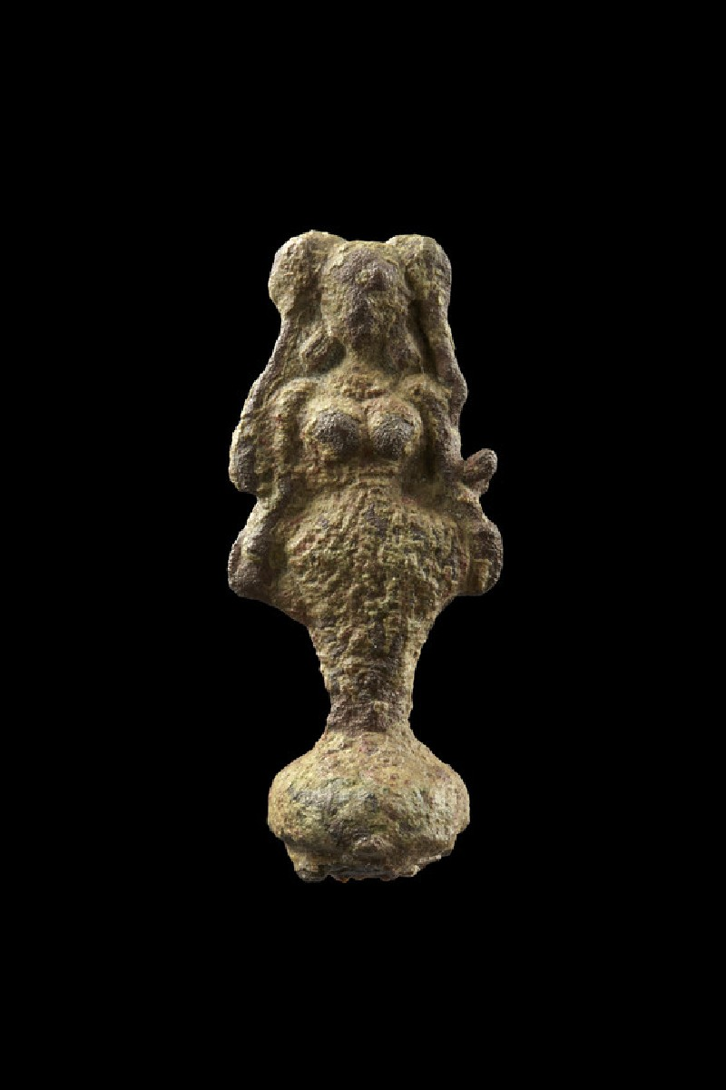 Finial in the form of a female figure, probably a deity