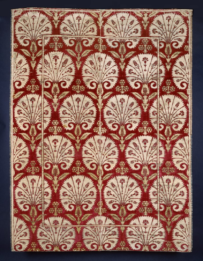 Ottoman velvet with carnations
