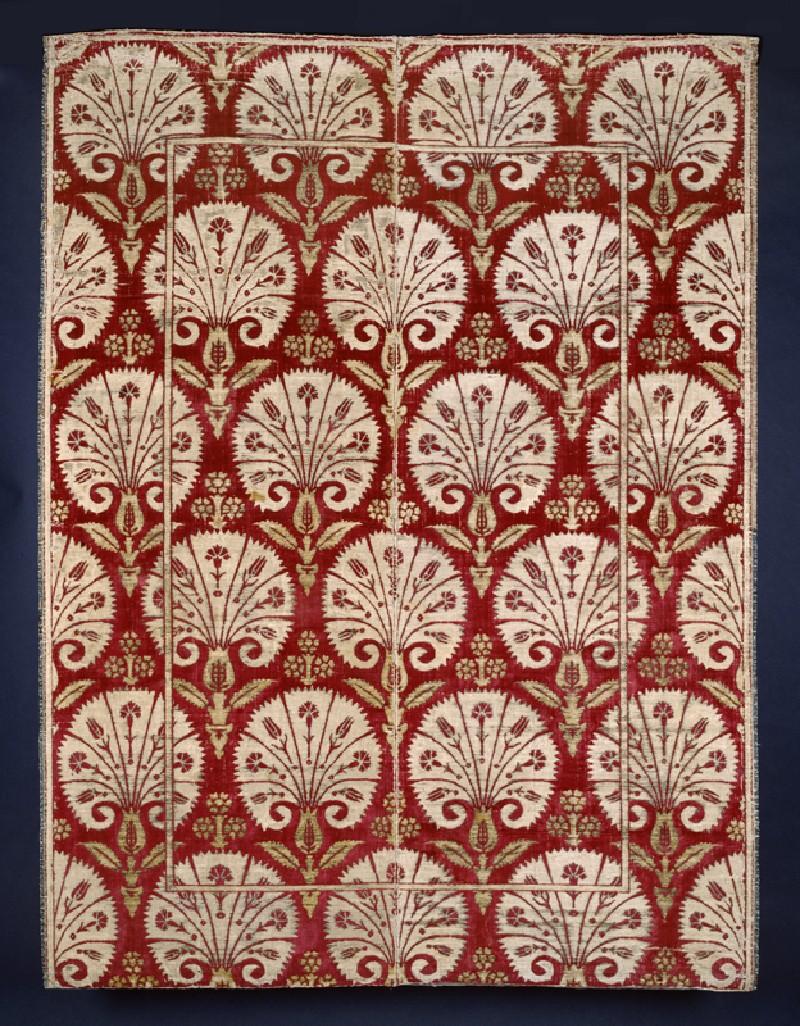 Ottoman velvet with carnations (EA2001.149, front            )