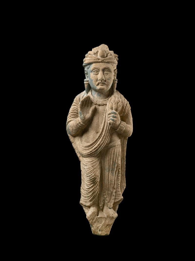Sculpture depicting a donor figure