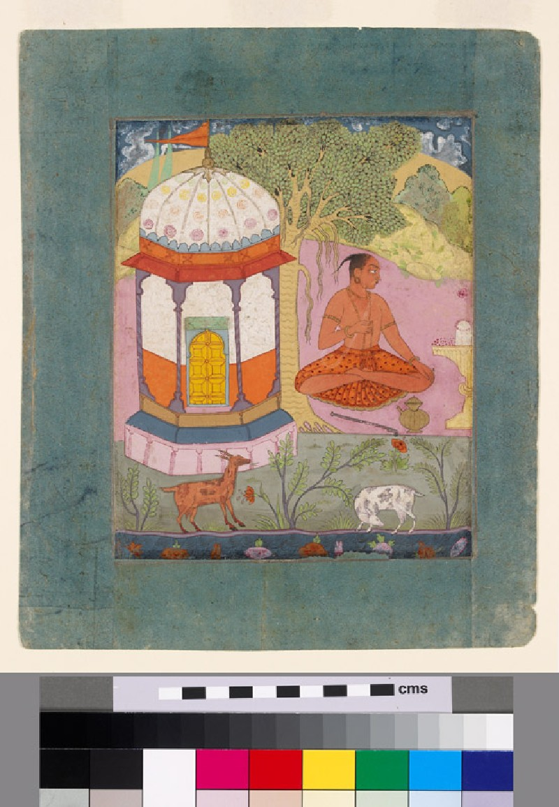 Ascetic in a landscape, illustrating the musical mode Bangali Ragini