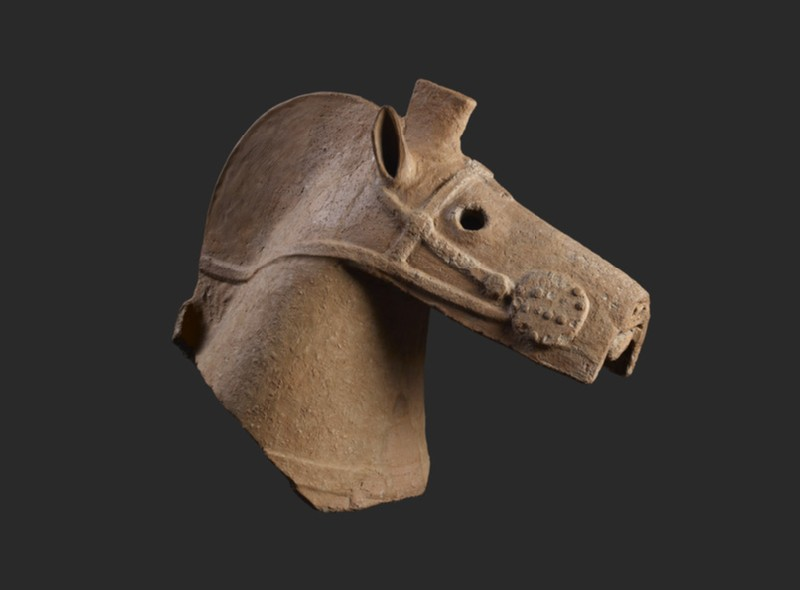 Haniwa figure of a horse's head