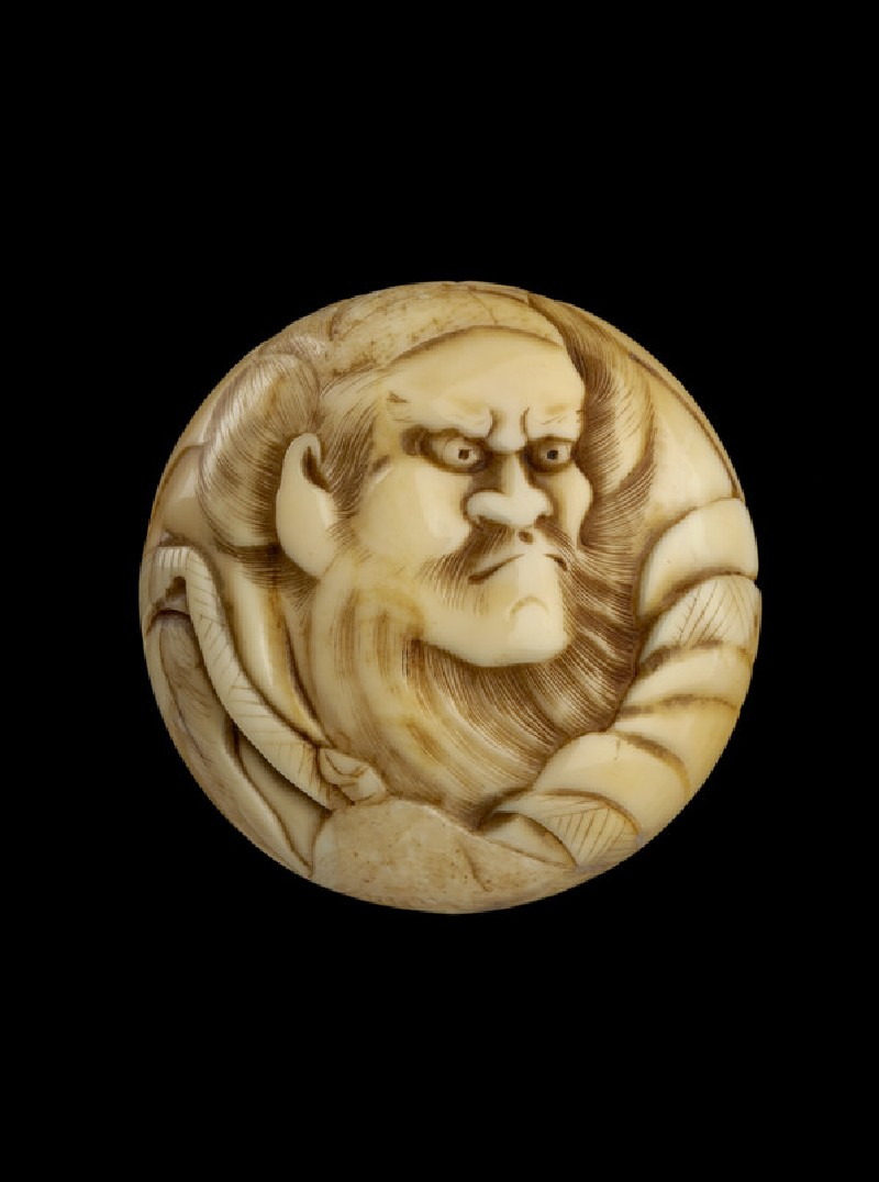 Manjū netsuke depicting Shōki, the demon queller (EA2001.59)