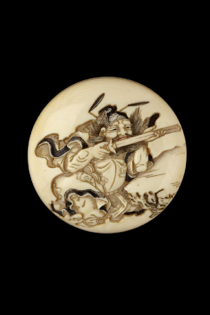 Manjū netsuke depicting Shōki, the Demon Queller