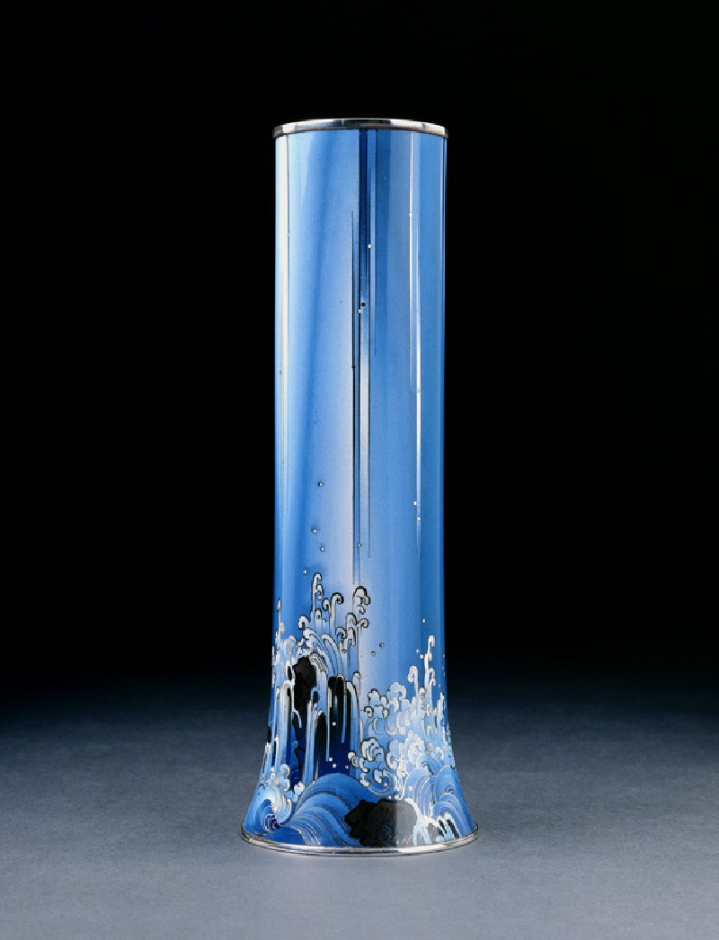 Vase with waterfall over rocks (EA2002.177, side            )