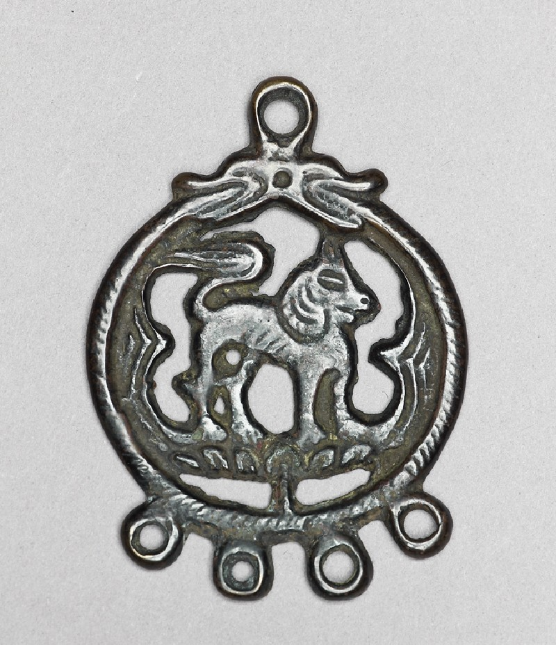 Talismanic plaque, or tokcha, with hybrid animal (front          )