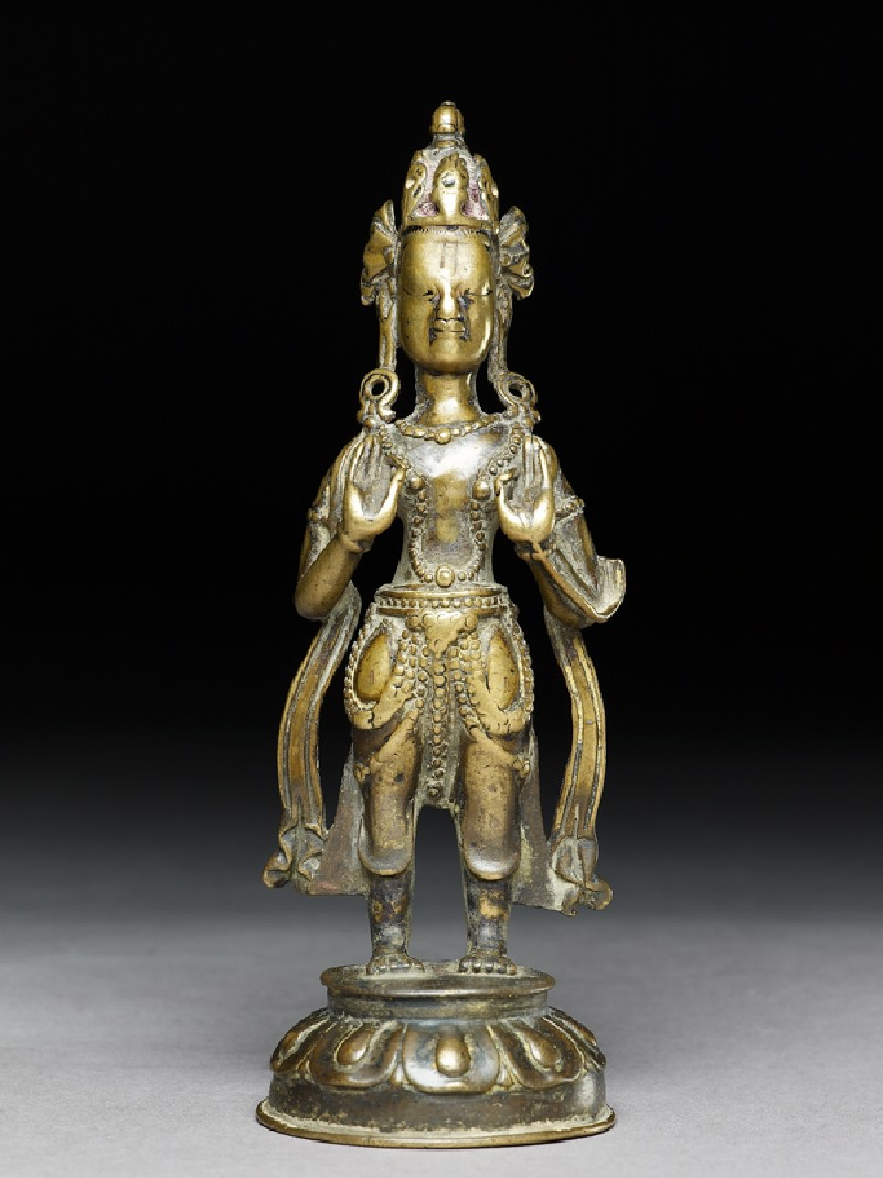 Standing figure of a bodhisattva (EA2002.34, front           )