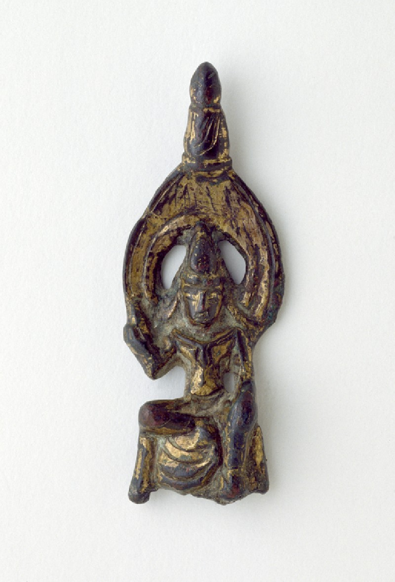 Seated figure of a bodhisattva (front          )