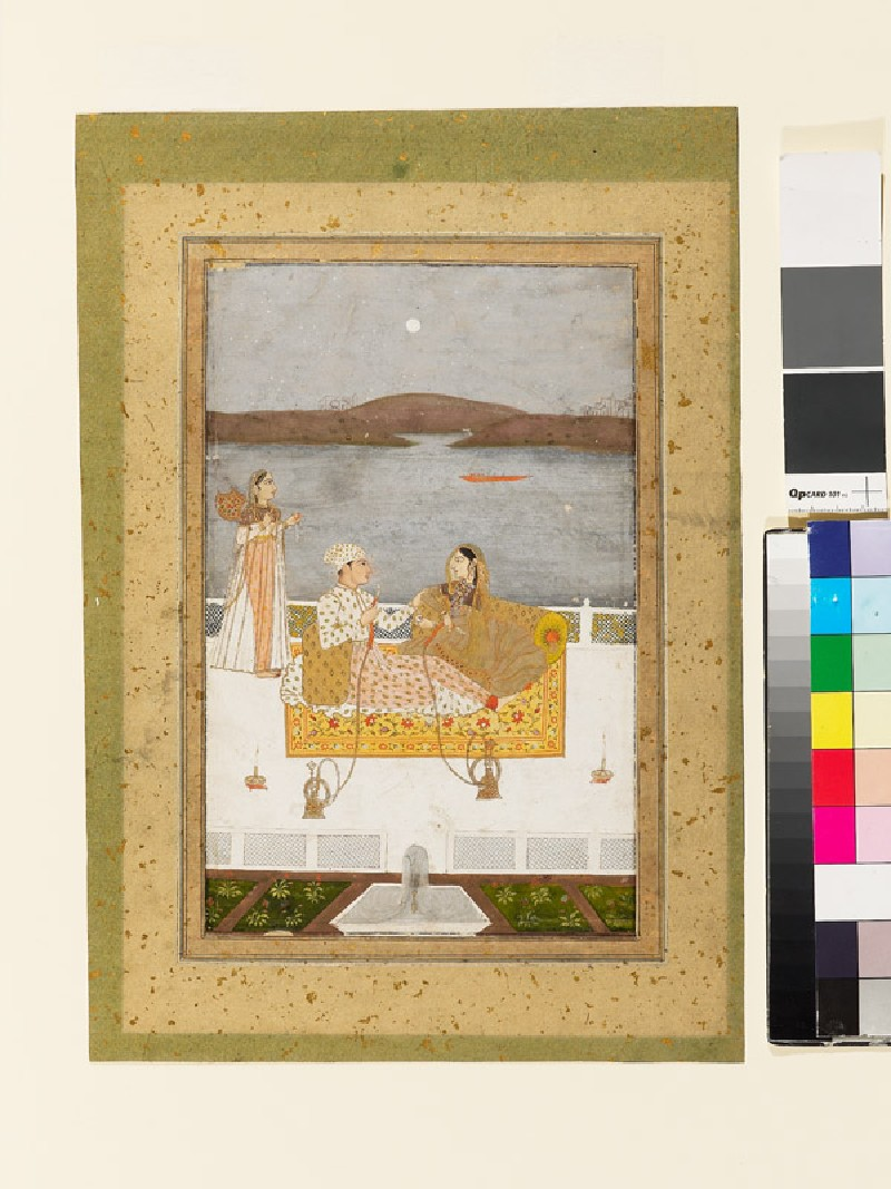 Lovers on a terrace at night (EA2003.24, front           )