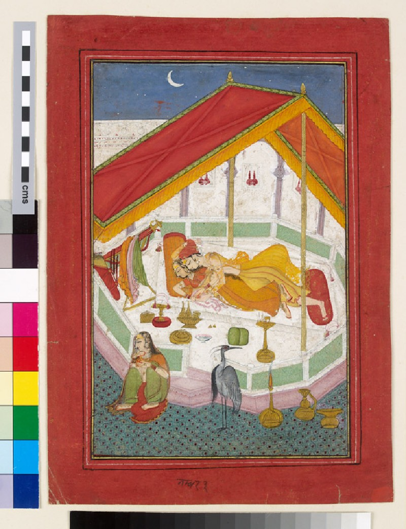 Lovers sleeping on a terrace (EA2003.26, front, front           )