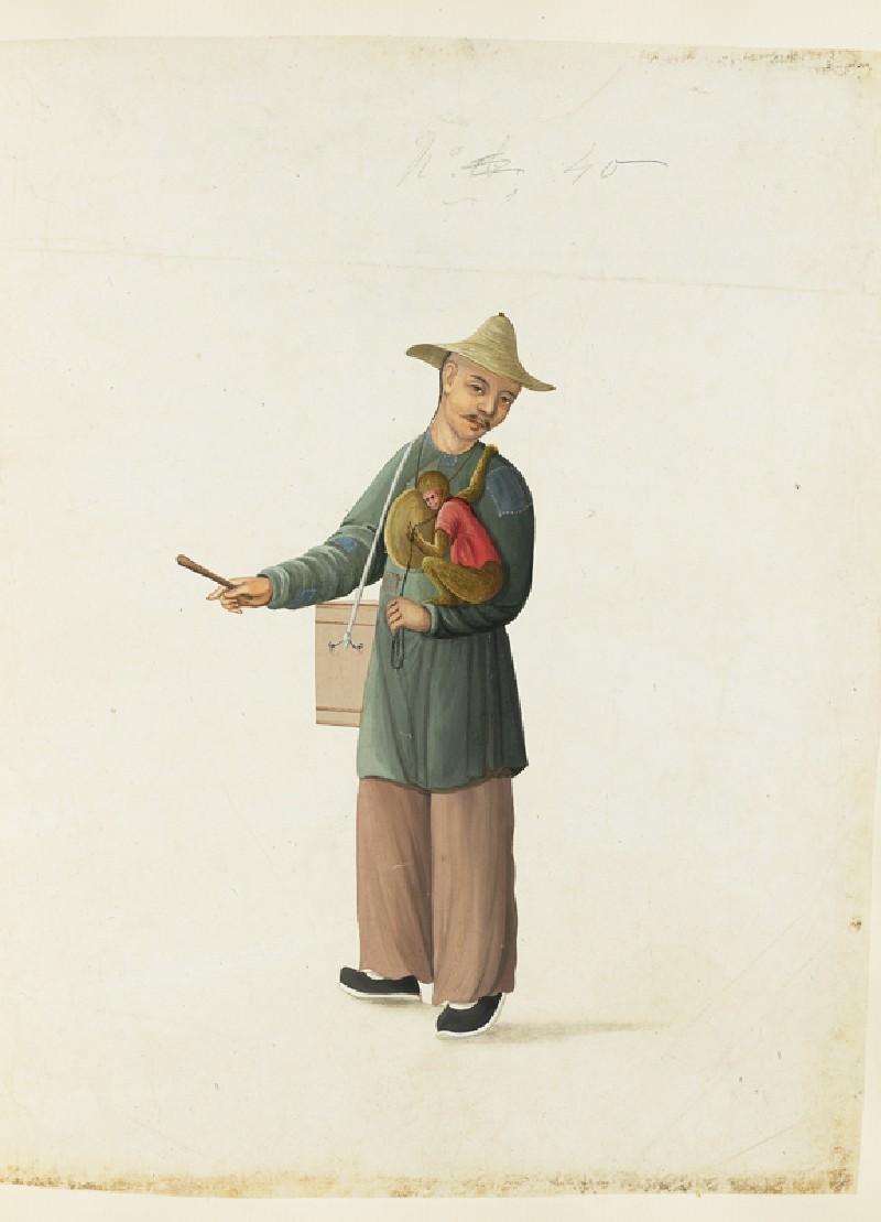 A Beggar with a Monkey