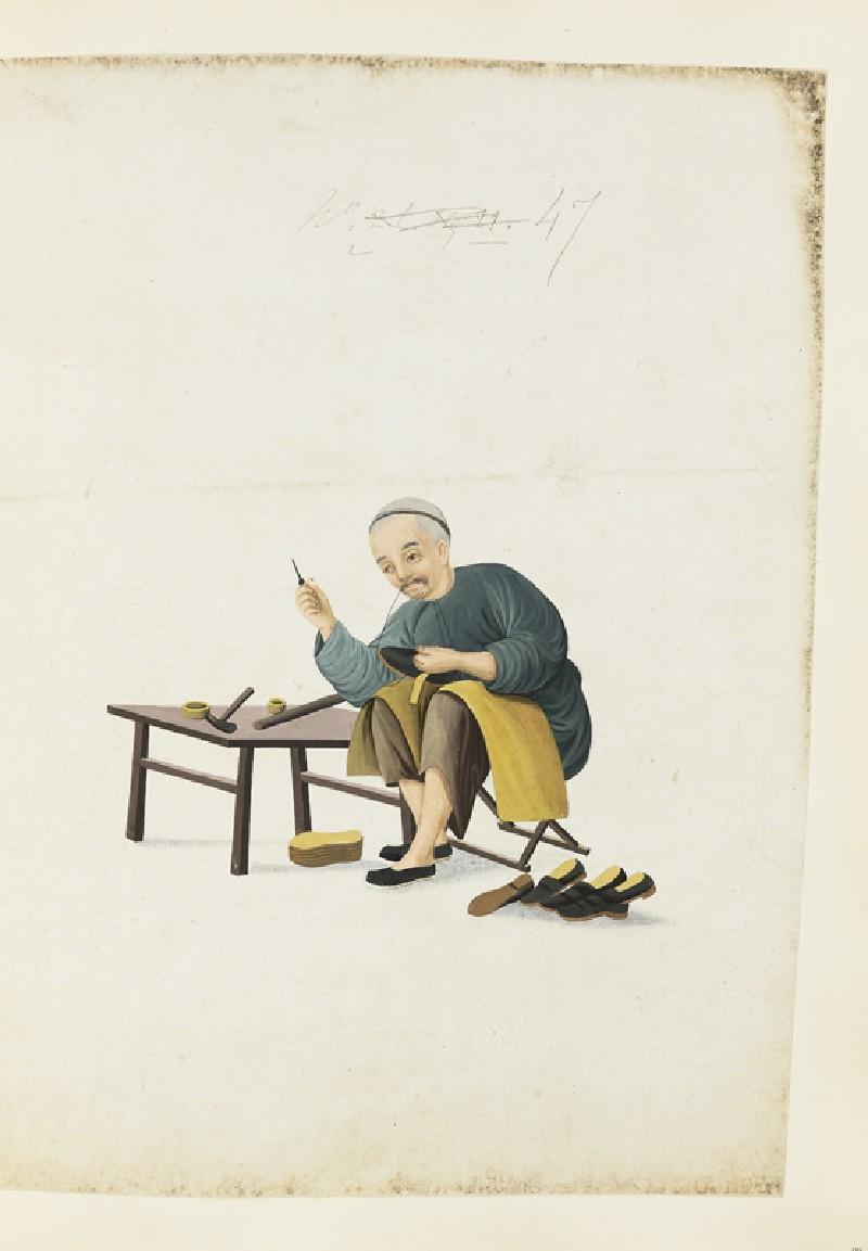 A Shoemaker (EA2003.4.123, front              )