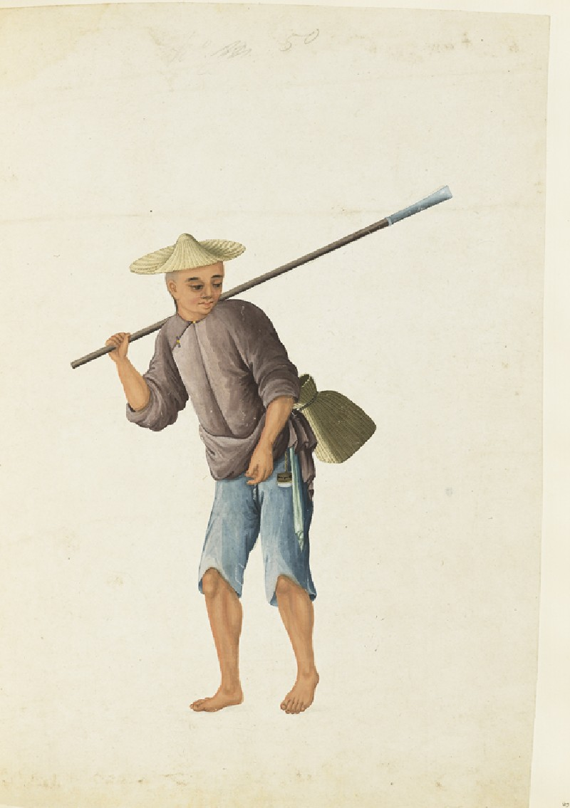 A Fisherman with a Scoop
