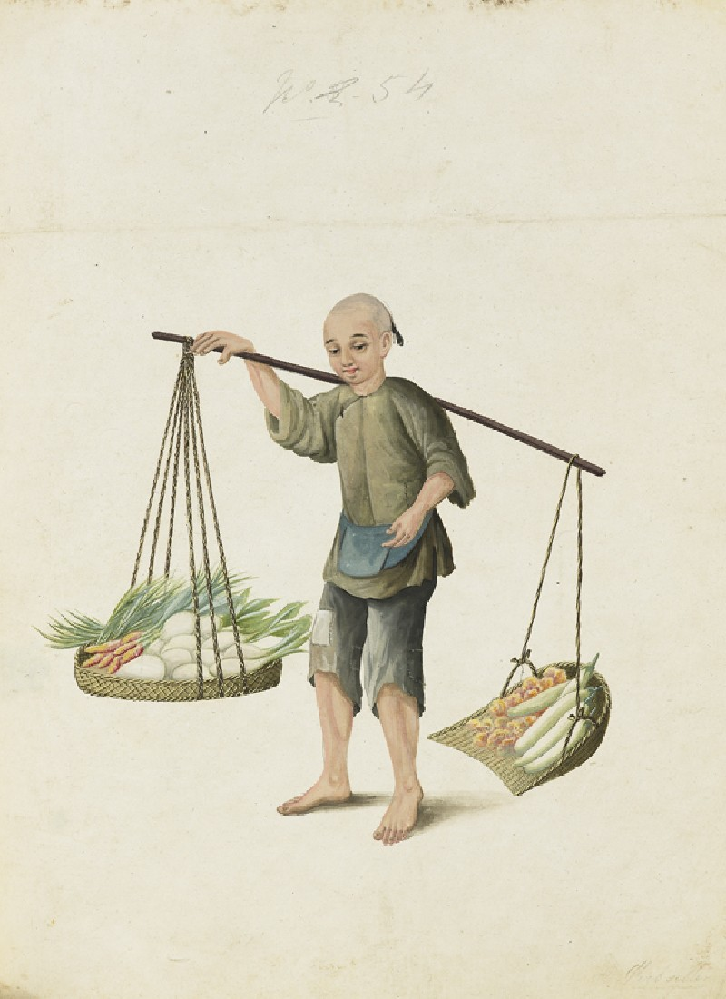 A Boy with Vegetables