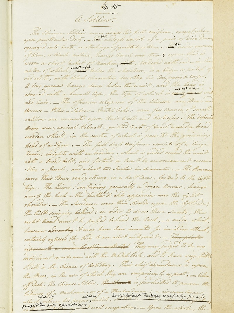 Description of A Soldier (EA2003.4.183, front              )