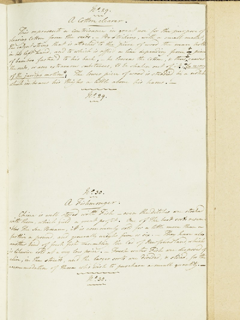 Description of A Cotton-Clearer and A Fisherman (EA2003.4.211, front              )