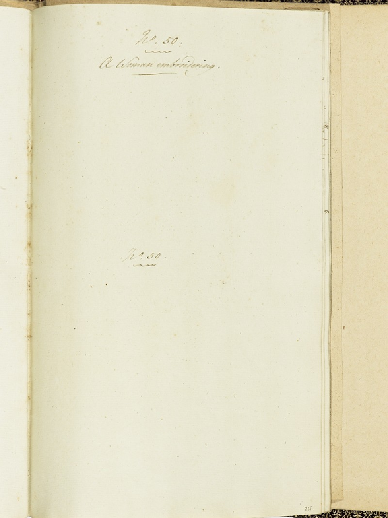 Blank notes page for A Woman Embroidering